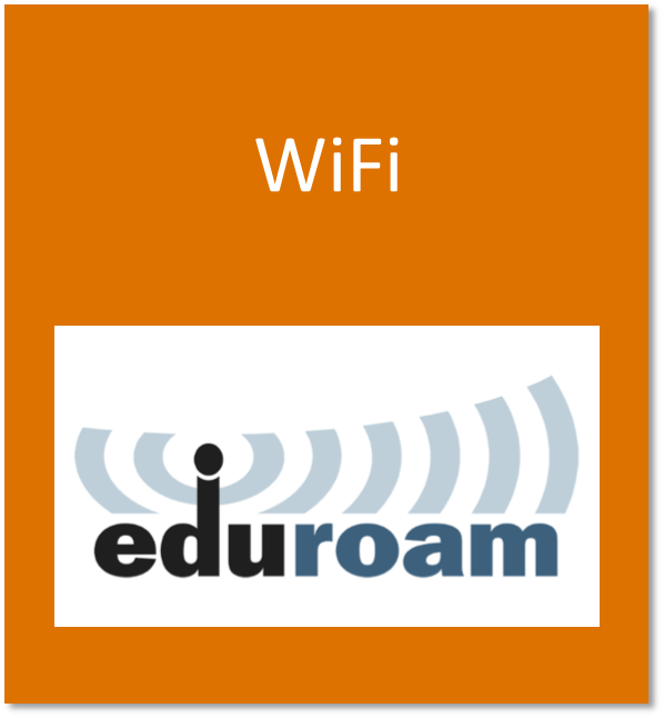 WiFi button containing the eduroam wifi logo
