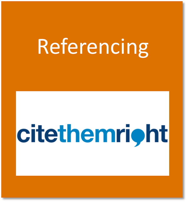 Referencing button containing the Cite Them Right referenciing logo