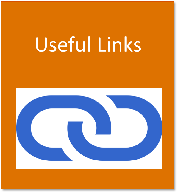 Useful links button containing a chain link